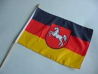 Stockflagge Niedersachsen ca. 37x27 cm