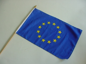 Stockflagge Europa ca. 37x27 cm