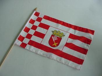 Stockflagge Bremen ca. 37x27 cm