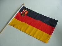 Stockflagge Rheinland-Pfalz ca. 37x27 cm