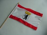 Stockflagge Berlin ca. 37x27 cm