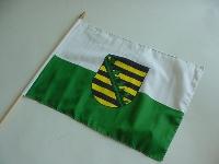 Stockflagge Sachsen ca. 37x27 cm