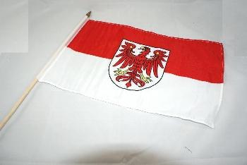 Stockflagge Brandenburg ca. 37x27 cm