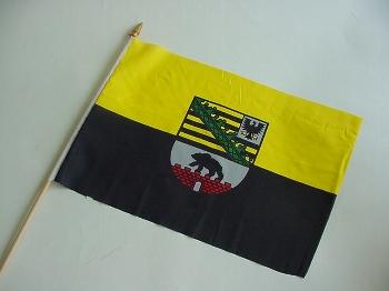 Stockflagge Sachsen Anhalt ca. 37x27 cm