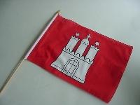 Stockflagge Hamburg ca. 37x27 cm