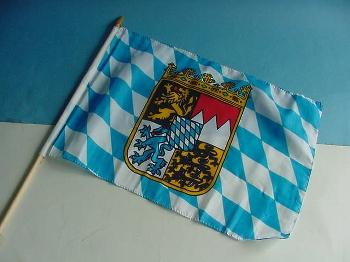 Stockflagge Bayern ca. 37x27 cm