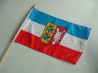 Stockflagge Schleswig-Holstein ca. 37x27 cm