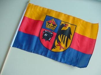 Stockflagge Nordfriesland/Mörser ca. 37x27 cm