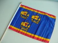 "Stockflagge ""Nordfriesland 3 Koggen"" ca. 37x27 cm"