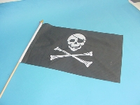 Stockflagge Pirat ca. 37x27 cm