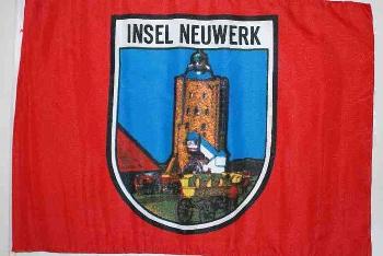 Stockflagge Neuwerk ca. 37x27 cm