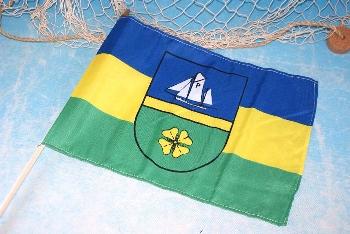 Stockflagge Insel Poel ca.37x27cm