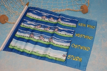 Stockflagge Wissensdurst ca. 37x27 cm