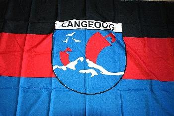 Flagge Langeoog Wappen 150x90cm