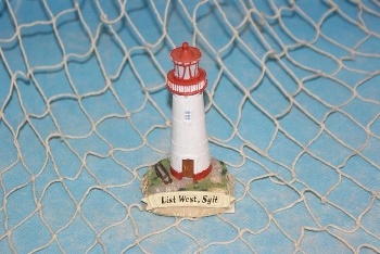 Leuchtturm List West, Sylt ca.11cm Polystone