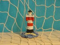 Leuchtturm Roter Sand 6cm Polystone