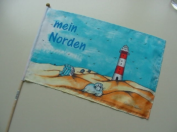 Stockflagge Mein Norden