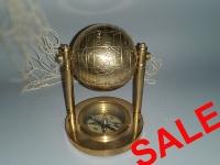 Globus aus Messing ca. 10 cm
