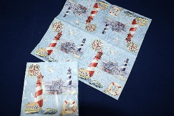 Serviette Nautical Chart & Icons