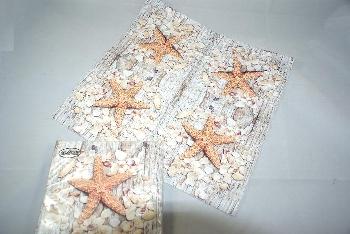 Serviette seashells on W. Woods