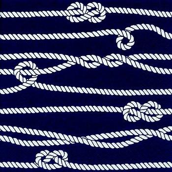 Serviette Marine Rope & Knots
