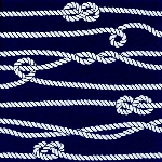 Serviette Marine Rope & Knots