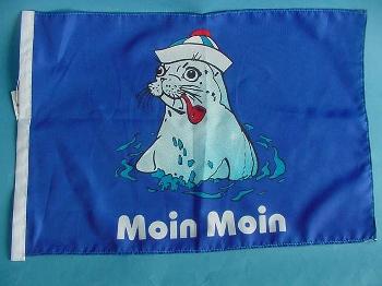 Stockflagge Seehund Pfeife ca. 37x27 cm