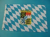 Flagge Bayern m. Wappen 150x90 cm