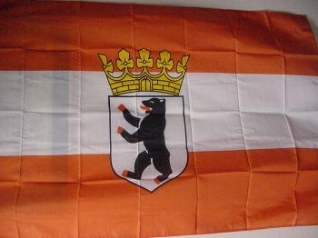 Flagge Berlin m. Krone 150x90 cm