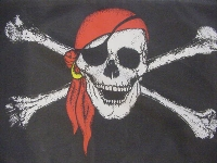 Flagge Pirat mit Kopftuch 90x60 cm