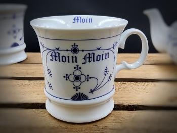 Herrenbecher Indisch Blau Moin Moin Porzellan