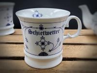 Herrenbecher Indisch Blau Schietwetter Porzellan