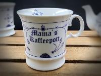 Herrenbecher Indisch Blau Mamas Kaffeepott Porzellan