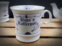 Herrenbecher Indisch Blau Papas Kaffeepott Porzellan
