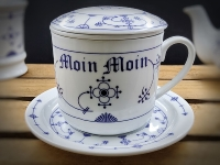 Kräuterteetasse Indisch Blau Moin Moin Porzellan