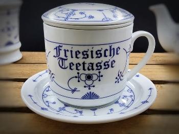 Kräuterteetasse Indisch Blau Friesische Teetasse Porzellan