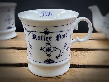 """Herrenbecher Indisch Blau """"Kaffee Pott"""" Ebbe Flut"""