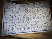Platzmatte Ind. Blau ca. 45x30 cm Kunststoff