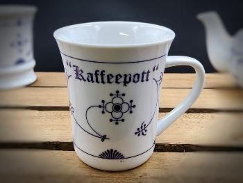 Konischer Becher Indisch Blau Kaffeepott Porzellan