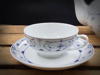 Ostfriesische Teetasse Indisch Blau ca.8x4cm Porzellan