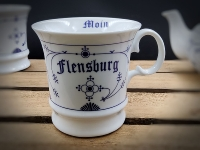 Herrenbecher Indisch Blau Flensburg Moin/Tschüss