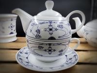 Tea for One Indisch Blau Porzellan
