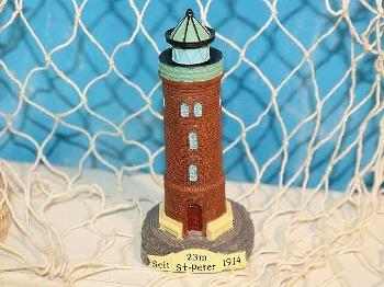 Leuchtturm St. Peter ca. 11 cm Polystone