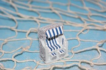 Strandkorb mini ca.3x4cm Polystone