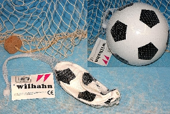 Fußball ca. 20cm Kunststoff OHNE LUFT