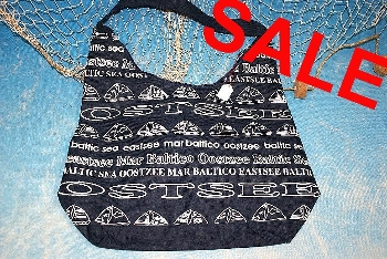 Nylon Tasche blau Ostsee ca. 43x30x17 cm