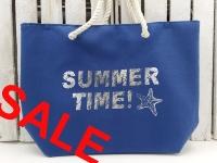Strandtasche Summertime dunkelblau ca.54x16x38 cm