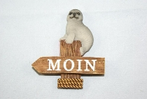 Seehund Moin Magnet ca.6x7cm Polystone