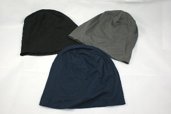 Beanie grau/navy/schwarz