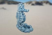 Grayline Keramik Seepferdchen Teelichhalter